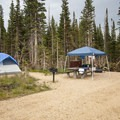 Typical campsite at Pawnee Campground Elk Loop.- Pawnee Campground
