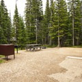 Typical campsite at Pawnee Campground Moose Loop.- Pawnee Campground