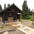 Niwat Picnic Area on Brainard Lake's southwestern shore.- Brainard Lake Recreation Area