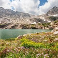 Blue Lake and Mount Toll (12,979 ft).- Brainard Lake Recreation Area