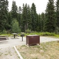 Typical campsite at Peaceful Valley Campground.- Peaceful Valley Campground