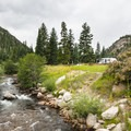 Middle St. Vrain Creek at Peaceful Valley Campground.- Peaceful Valley Campground