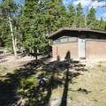 Restroom facilities at Longs Peak Campground.- Longs Peak Campground