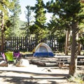 Campsite at Longs Peak Campground.- Longs Peak Campground