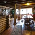 Dinning area at Allenspark Lodge.- Allenspark Lodge Bed + Breakfast