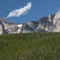 Mount Meeker (13,911 ft) and Longs Peak (14,259 ft).- Lily Lake Loop Hike
