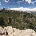 View of Rocky Mountain National Park from the summit of Lily Mountain (9,786 ft).- Lily Mountain Hike