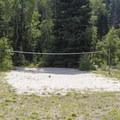 Volleyball court.  - Spruces Campground
