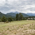 View south from the Stanley Hotel toward Rocky Mountain National Park.- Stanley Hotel