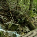 The water flows hardest in the spring and fall.- Mount Fromme Mountain Bike Trails: No Quarter + Dreamweaver Loop