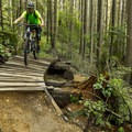 Wooden features have been upgraded and new features have been added.- Mount Fromme Mountain Bike Trails: No Quarter + Dreamweaver Loop