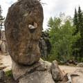 Granite formations along the Gem Lake Trail.- Gem Lake Hike via Lumpy Ridge Trailhead