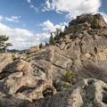 Granite dome above Gem Lake.- Gem Lake Hike via Lumpy Ridge Trailhead