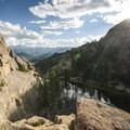 View south from above Gem Lake.- Gem Lake Hike via Lumpy Ridge Trailhead