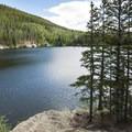 View northwest from the Bear Lake Loop Trail.- Bear Lake Loop Hike