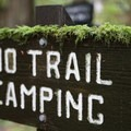 Camping at the trailhead, but not on the trail.- Orcas Island: Cold Springs Trail to Mount Constitution Summit