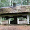 Cold Springs Shelter.- Orcas Island: Cold Springs Trail to Mount Constitution Summit