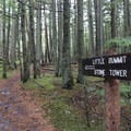 Trail signage.- Orcas Island: Cold Springs Trail to Mount Constitution Summit