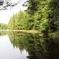 Glassy waters along the hike. - Orcas Island: Cold Springs Trail to Mount Constitution Summit