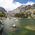 Lake Haiyaha, Rocky Mountain National Park.- Lake Haiyaha Hike