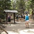 Trailhead for Lake Haiyaha along with Nymph, Dream and Emerald Lake.- Lake Haiyaha Hike