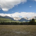 View of the Front Range from Glacier Basin Campground.- Glacier Basin Campground