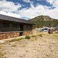 Restroom and wash facilities at Glacier Basin Campground, C Loop.- Glacier Basin Campground