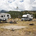 Typical campsite at Glacier Basin Campground, D Loop.- Glacier Basin Campground