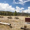 Group camping area 3M at Glacier Basin Campground.- Glacier Basin Campground