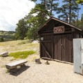 Firewood and ice for sale at Glacier Basin Campground.- Glacier Basin Campground