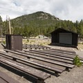 Amphitheater at Glacier Basin Campground.- Glacier Basin Campground