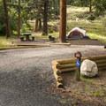 ADA-accessible site at Aspenglen Campground, C Loop.- Aspenglen Campground