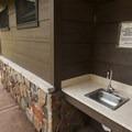 Restroom and wash facilities at Aspenglen Campground, C Loop.- Aspenglen Campground
