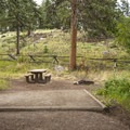 Typical campsite at Aspenglen Campground, C Loop.- Aspenglen Campground