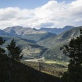 View north of the Mummy Range from Many Parks Curve Overlook. - Many Parks Curve Overlook