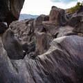 Smoothed basalt patterns.- Fossil Falls