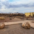 Parking area and trailhead.- Fossil Falls