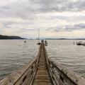 The Olga pier.- Orcas Island: Olga Beach + Pier