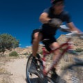 Racing down the slalom.- 18 Road Mountain Bike Trails: Kessel Run
