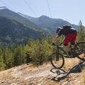 First downhill section.- One Mile Lake Mountain Bike Trails: Lumpy's Epic