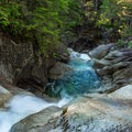 The falls run low in the summer months.- Shannon Falls Provincial Park