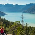The view from the Howe Sound Lookout.- Shannon Falls Provincial Park