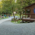 Information center and picnic area.- Shannon Falls Provincial Park