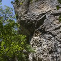 A limestone outcrop with a couple of climbing routes.  - Grandeur Peak