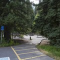 Part of the day use facilities at Spruces Campground.- Spruces Campground