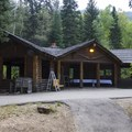 A day use area in Spruces Campground that is available for reservation.- Spruces Campground