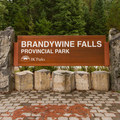 Brandywine Falls Provincial Park entrance.- Brandywine Falls Provincial Park