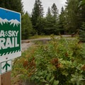 The Sea-to-Sky Trail heading south to Squamish.- Brandywine Falls Provincial Park