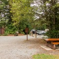 Picnic areas near the parking lot.- Brandywine Falls Provincial Park