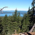 There are amazing views of Waldo Lake from the Twins Trail.- The Twins